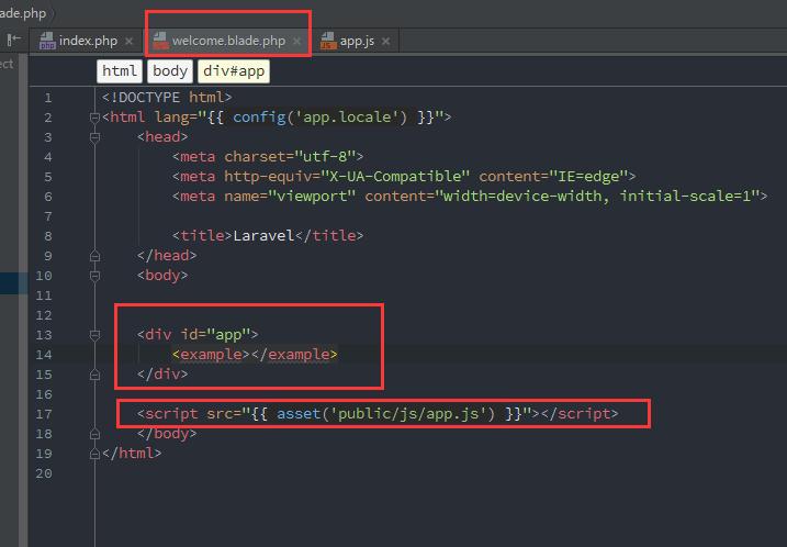 【Laravel学习笔记】Laravel 5.4+Vue.js 初体验:Laravel下配置运行Vue.js